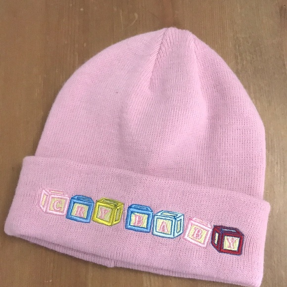 Hot Topic Accessories - Melanie Martinez Cry Baby Beanie Pink fe732352386